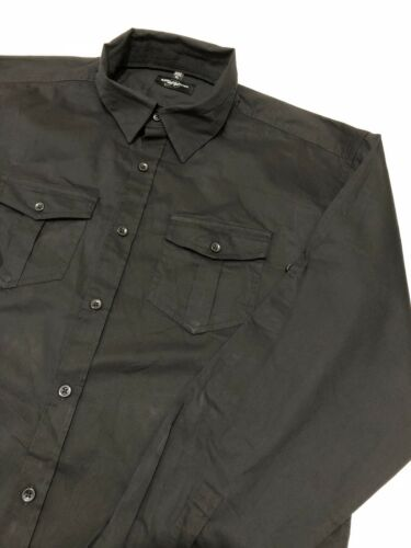 Long Shirt Men's Black Xl Russell Collection Sleeves Size qEwCRBU