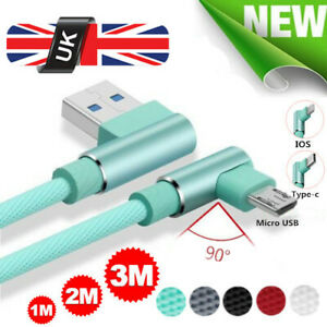 UK-Elbow-Braided-Charger-IOS-Micro-USB-C-Fast-Charging-Cable-For-iphone-Samsung