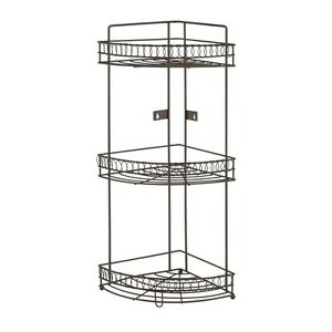 Image Is Loading Bathroom Shelf Organizer Corner Rack Large Metal 3