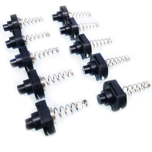 US Stock 10pc 16mm 101F On//Off Self-locking Spring Clicky Switch For Flashlights