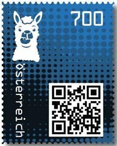 Crypto-Stamp-2-0-Lama-BLAU-im-Folder-Postfrisch-MNH-4-Bilder-gt