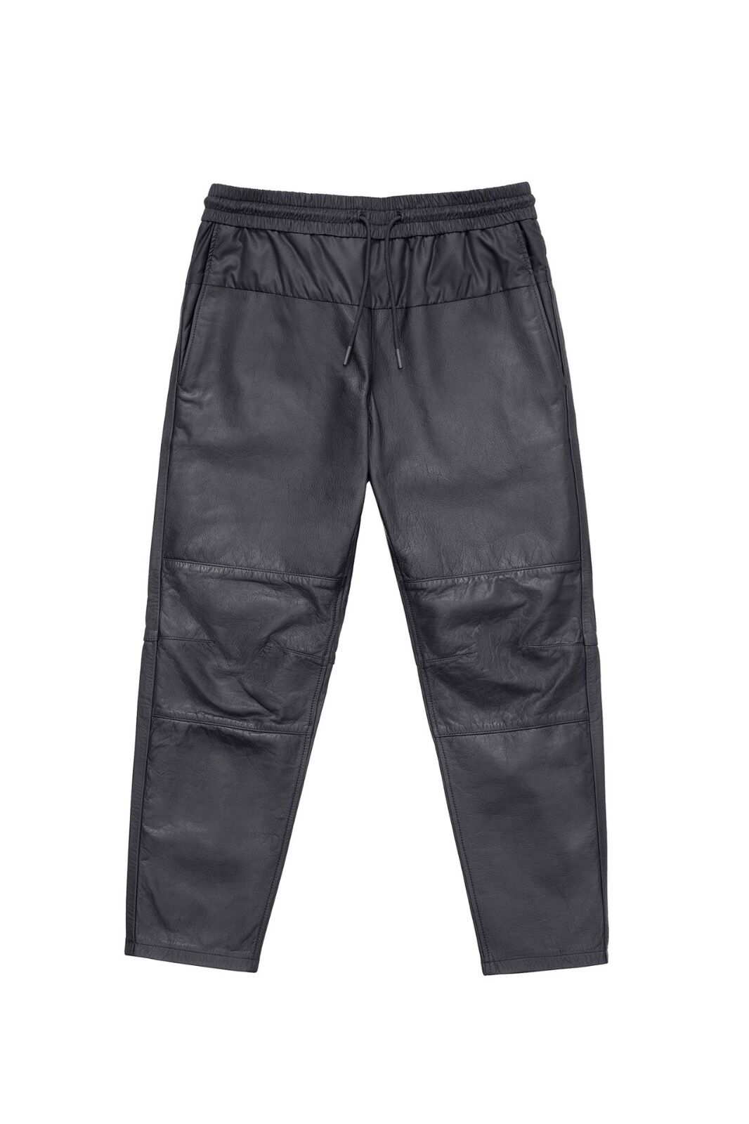 Alexander Wang leather pant with stretch nylon waist