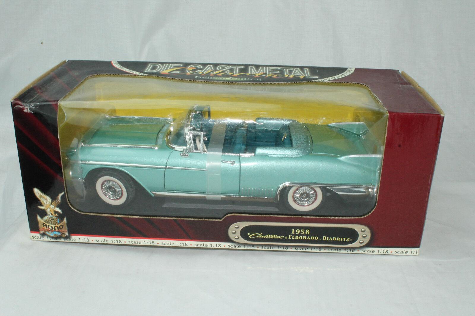 Strada Segno Distintivo Modelli 1958 Cadillac Eldorado Biarritz, Verde, 1:18,