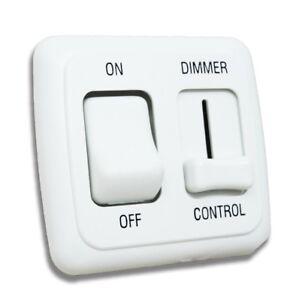 12v Dimmer Switch >> Details About Led Dimmer Switch 12v On Off Light Rv Motor Home Camper Trailer White 12 V