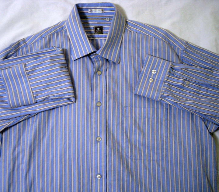 ef01f79f ... Button-Down Shirts. Peter Millar ® bluee Stripe 17 L Large Shirt New  NWOT