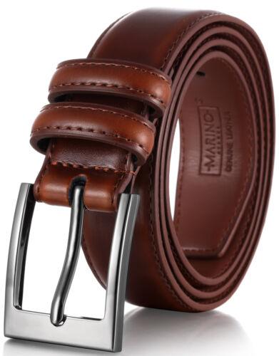 Mio Marino Men/'s Genuine Leather Dress Belt with Single Prong Buckle