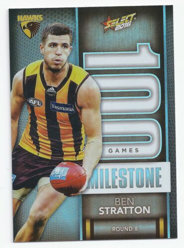 MG38 2016 Select Footy Stars Milestone Ben STRATTON Hawthorn