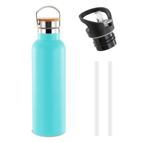 500-1000ML Sports Water Bottle Travel Outdoor Bike Vacuum-Insulated Flask Straws