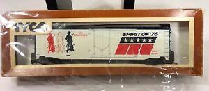 Vintage-TYCO-Box-Car-Bicentennial-Minuteman-362-A-Red-White-Blue-1976-EUC