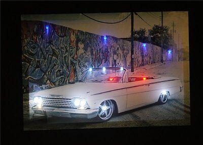 oldtimer Auto Led Leinwand Leuchtbild Beleuchtung Lights Pictures Image Rahmen