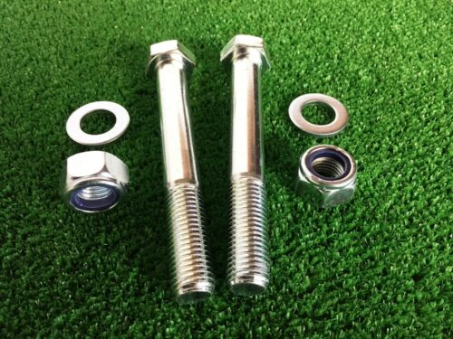 PAIR Tow Bar Tow Ball Bolts 120mm Long C//w  Nyloc Nuts /& Washers  8.8 Tensile