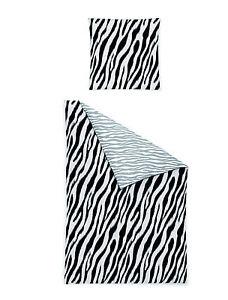 irisette wende mako satin bettw sche 4 tlg rv 135x200 afrika zebra schwarz wei ebay. Black Bedroom Furniture Sets. Home Design Ideas
