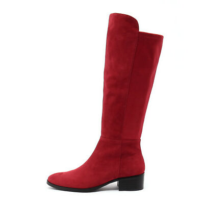 New Django & Juliette Tetley Red Red Womens Shoes Casual Boots Long