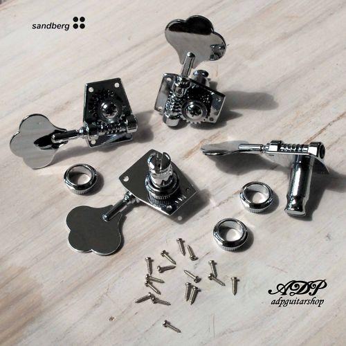 Mecaniques Bajo P - J Sandberg Bass Cromado Sintonizadores Set Set Set   4  autorización oficial