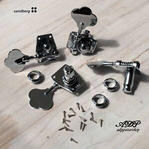Mecaniques-Basse-Sandberg-P-J-Bass-Chrome-Tuners-Set-4
