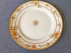 Vintage-Hand-Painted-Noritake-Nippon-6-034-Side-Dessert-Plate-Hand-Painted-Gold