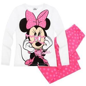 DISNEY-pyjama-2-pieces-MINNIE-6-8-ou-10-ans-rose-fonce-NEUF