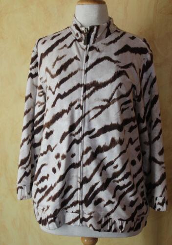 Jacket Chico's Funky Fun 1 M up Art to wear Zenergy Neutral Sz Zip Dyreprint qqOrTg6