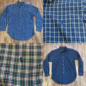 Ralph-Lauren-Men-s-Medium-Classic-Fit-Plaid-Button-Down-Lot-Of-2-Shirts