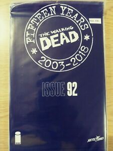 WALKING-DEAD-92-NM-15-YEAR-ANNIVERSARY-BLACK-POLYBAGG-SEALED-PA11-345