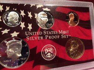Complete 10 coins//Box//COA 2006 Silver Proof Set