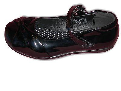 Zapatos de chicas Escuela Formal Negro o Negro Patente Vel nos Latón Kelly Tallas 8-2