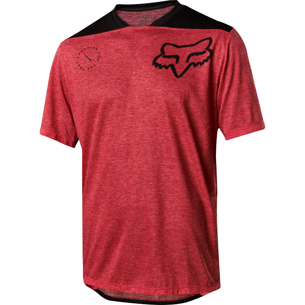 Fox Racing 2018 Indicator ss ASYM Jersey Bright rosso