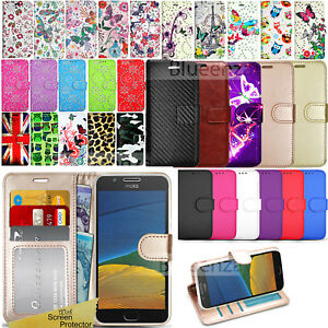 timeless design ab069 1af37 Details about For Motorola Moto G5 -Wallet Leather Case Flip Stand Cover +  Screen Protector