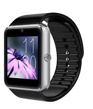 Lemfo GT08 Bluetooth SIM TF Smart Watch NFC Phone Mate For Andriod IOS Silver