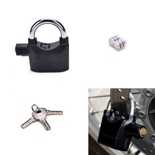 Anti-theft Padlock Sound Alarm Lock Security for Bike Bicycle Motorcycle Garage*