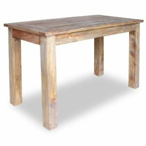 Details About Vidaxl Solid Reclaimed Wood Dining Table 47 2 Rustic Room Furniture