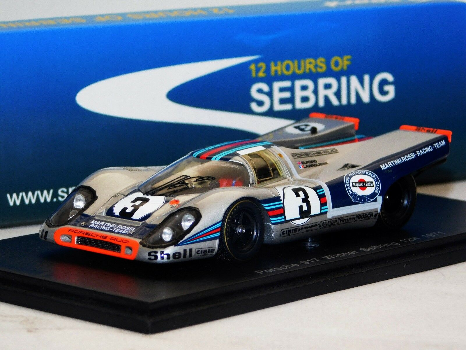 Porsche 917  3 ELFORD LARROUSSE Ganador Sebring 1971 Spark 43SE71 1 43