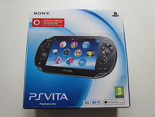 BLACK Sony Playstation Vita 3G/Wifi gaming console. great condition + warranty