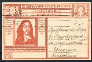 BRIEFKAART-GEUZ-213a-HAARLEM-BREMEN-BUITENLAND-GEBRUIK-Q536