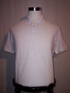 Maglia-maglietta-polo-Alcott-ragazzo-uomo-tennis-manica-corta-cotone-bianca-XL