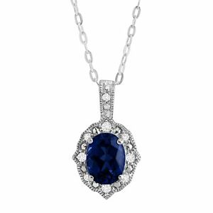 Created-Blue-amp-White-Sapphire-Oval-Pendant-in-Rhodium-Plated-Sterling-Silver