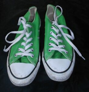 Details about CONVERSE ALL*STAR LOW LACE-UP, CLASSIC STYLE, LIME GREEN, UNISEX 5/7, GOOD!