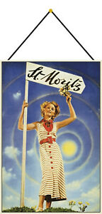 Piece Moritz Woman Flower Tin Sign Shield with Cord 20 X 30 CM CC0719-K