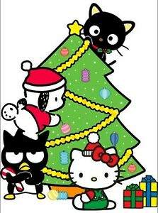 Hello Kitty Christmas Iron On Transfer For T Shirt Other Light Color Fabric 5 Ebay