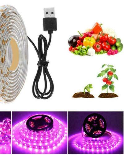 Spar-SET 1-10x LED-Pflanzenlicht USB FLEX Streifen 5V Netzteil Pflanzenleuchten
