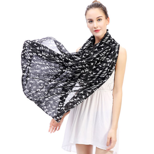 Fashion Birds on Tree Print Womens Infinity Loop Scarf Christmas Gift Idea
