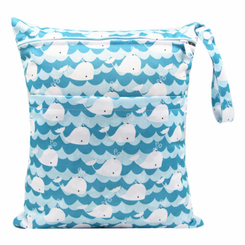 Travel Dual Zipper Nappy Bag Wet Dry Pouch Baby Diaper Bag Mommy Storage