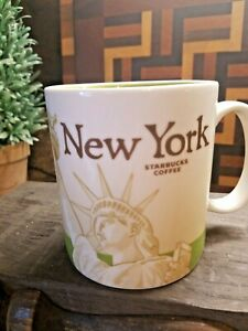 SET of 2 Starbucks New York Coffee Mug Cup  Collectors Travel  , Coffee date ♡