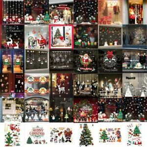Merry Christmas & Newyear Tree Wall Stickers Vinyl Decal Window Removable Decor