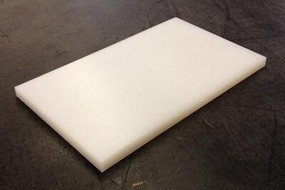 "1 1//4/"" Thick x 12/"" x 24/"" Tivar UHMW PE Natural White Sheet 1.25/"""