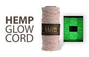 Glow In The Dark - 1MM Hemp Twine Hemptique Cord Macrame String 205ft Spool
