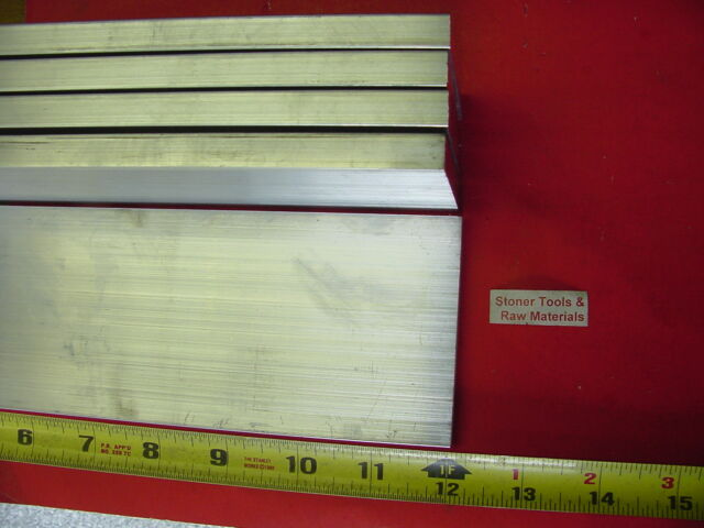 """5 Pieces 1/2"""" X 3"""" ALUMINUM 6061 FLAT BAR 12"""" long T6511 Solid Plate Mill Stock"""