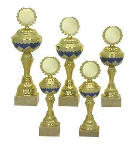 5er Serie Pokale 579 Gold/Blau mit Höhe 31,5-24,5 cm inkl.Gravur nur 42,95 EUR
