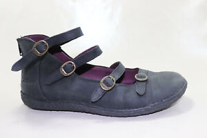 Kickers-Ballerines-Cuir-Bleu-Taille-40