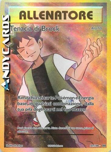 TENACIA DI BROCK 107//108 ☻ Grit ☻ Rara Full Art ☻ Evoluzioni XY12 ITA ☻ POKEMON